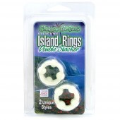 Island Ring Double Stacker Glow in the Dark